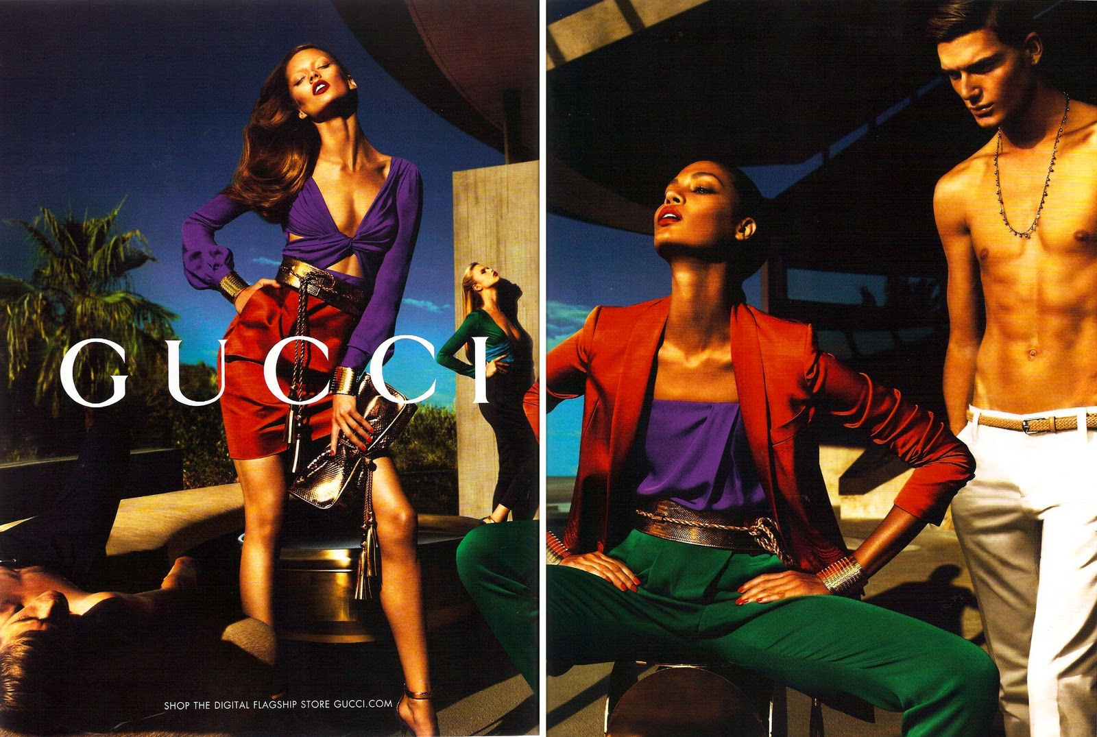 Gucci Ad Campaign 2011 | fashionmarketinglessons Bar Refaeli Twitter