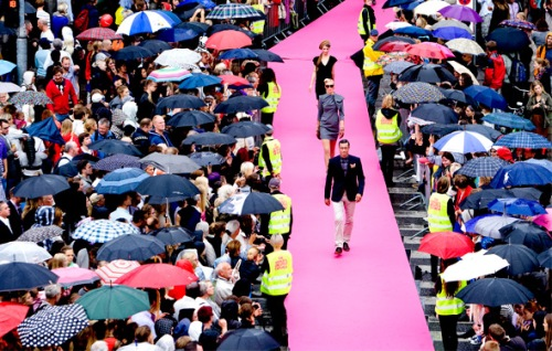 Copenhagen Fashion Week Pink Longest Outside Catwalk