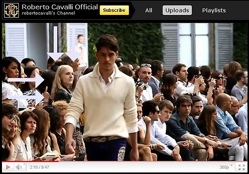 Google Apps 2011, Roberto Cavalli Special Runway Video SS 2012