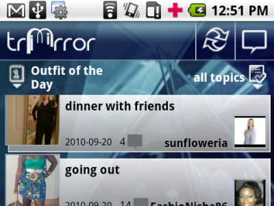 Android fashion App, Tri Mirror Fashion