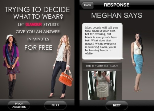 Glamour Ask a Stylist Mobile Fashion App