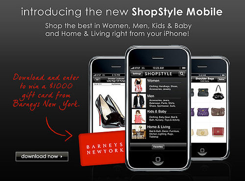 Shopstyle Mobile Fashion App