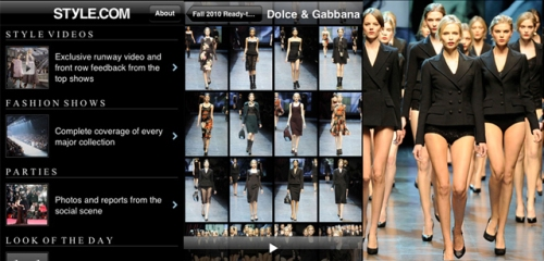 Style.Com Mobile Fashion App By Condé Nast Digital